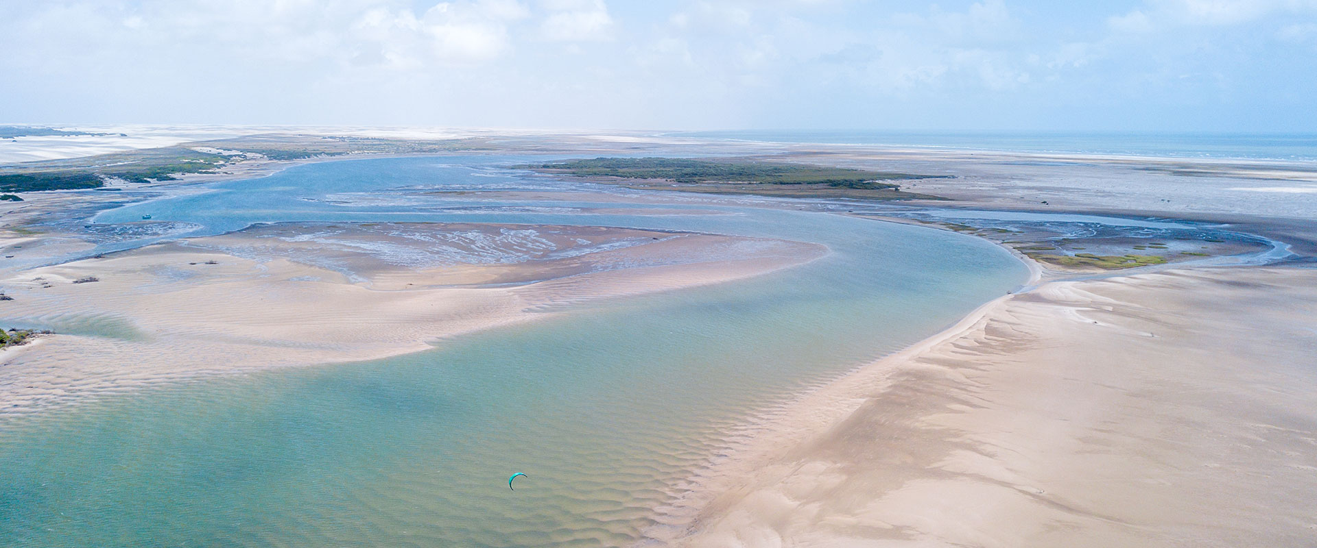 A view of the water on the sand dunes in Atins