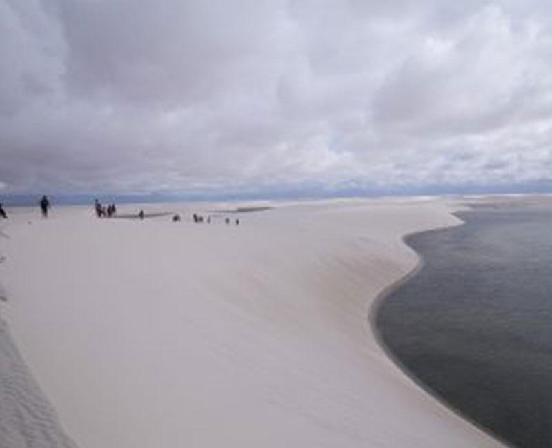 A view of Lençóis Maranhenses national park in Atins, Brazil