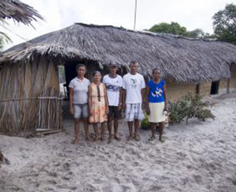 A local family in Atins, Brazil