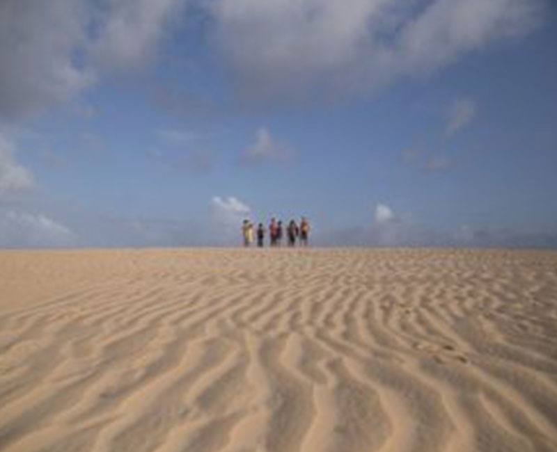 View of the sand dunes in Atins, Brazil