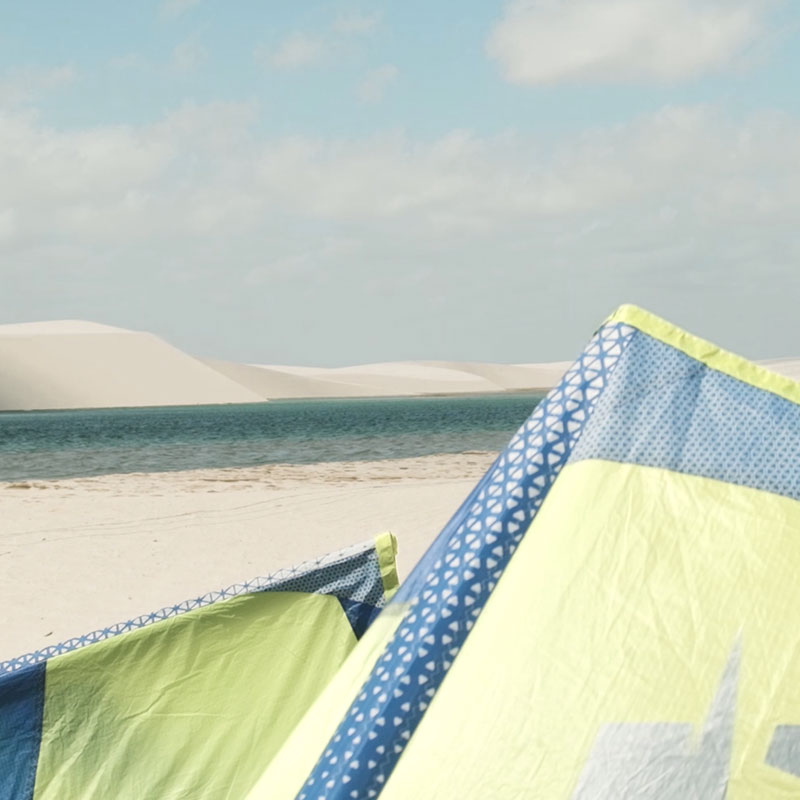View of the dunes in Atins, Brazil