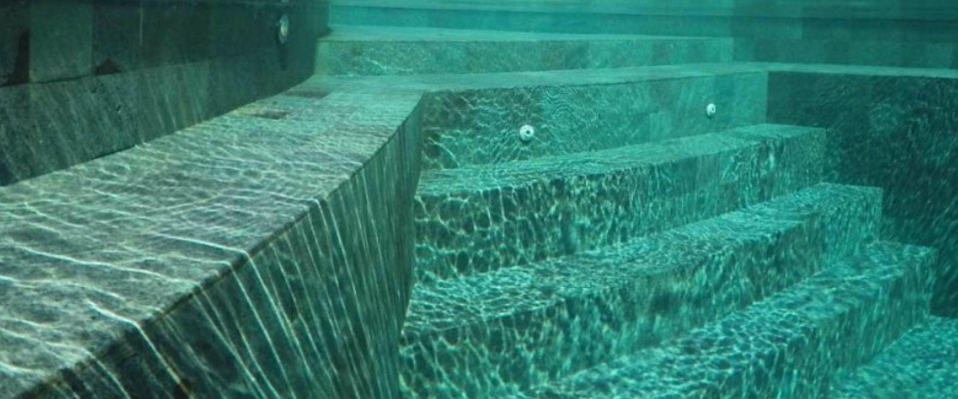 inside the blue pool