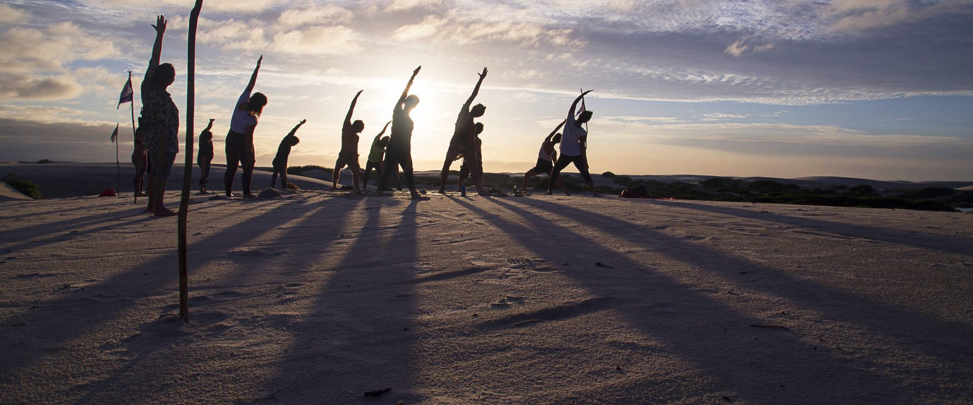 Yoga exercises in the evening