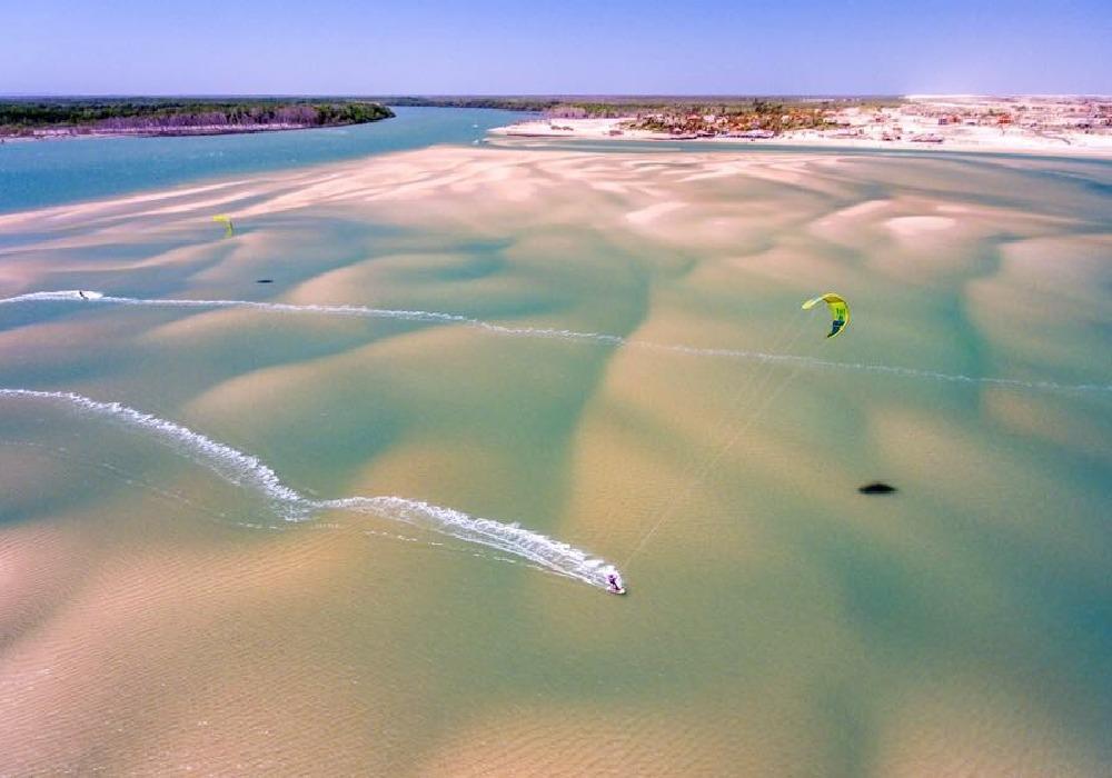 shallow sandy beach