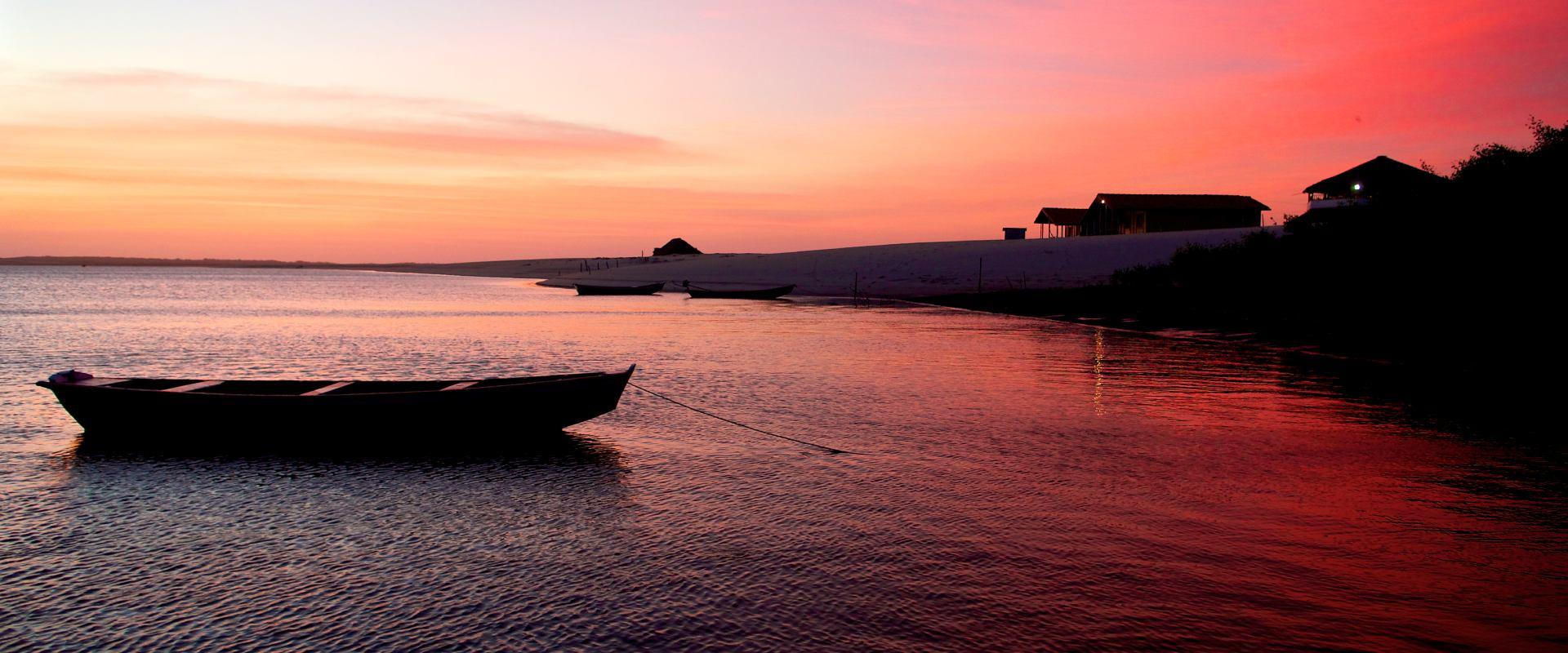 Sunset view at Convento Arcadia, Atins